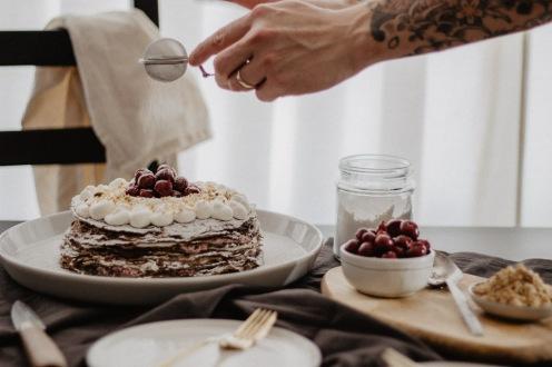 Crêpe Cake Icing Sugar Part 2